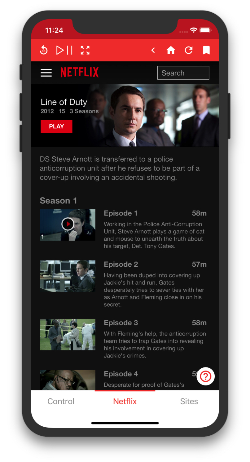 Control for Netflix, Amazon, YouTube, iPlayer and more